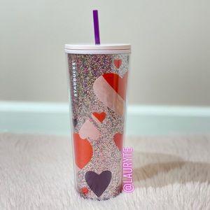 Starbucks Multicolored Glitter Heart Tumbler